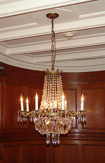 chandelier at the grand staircase