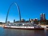 at St. Louis, with Gateway Arch