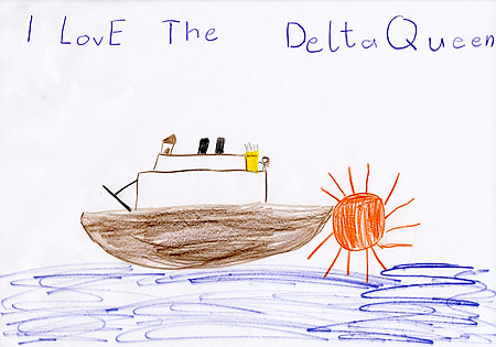 I love the Delta Queen painting by Leonie